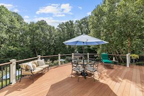 Private Dining Deck Overlooking Pool