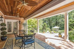 Covered Patio Off of Lower Level In-Law Suite