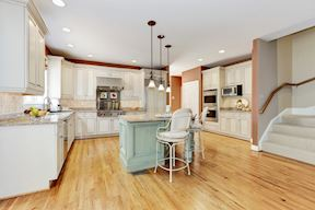 Chef's Kitchen with Private Back Stair to Upper Level