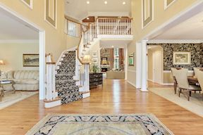 Extended Foyer and Open Stair