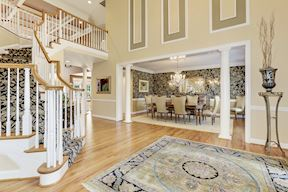 Center Foyer Sided by Living & Dining Formals