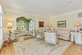 Formal Living Room Adjacent to Sun Room