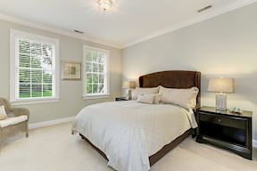 Upper Level Bedroom with Private Vanity and shared Bath