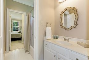 Private Vanity with Shared Tub and Toilet Room