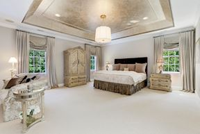 Upper Level Master Suite and Tray Ceiling