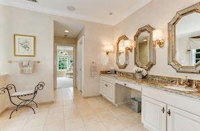 Master Bath Suite with Exotic Granite & Designer Sconces