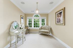 Master Dressing Room with Schonbeck Chandelier & Palladian Window