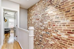 Second Level Brick Accent Wall