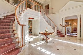 Open Plan Foyer w/ Dual Curved Stairs