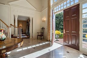 Two Story Foyer w/ Marble Floors