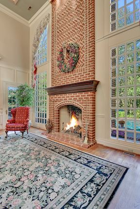 Family Room w/Two Story Fireplace