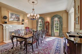 Formal Dining Room w/ Fireplace