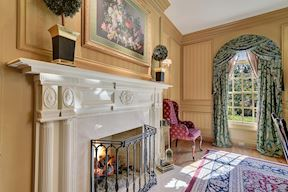 Formal Dining Room Fireplace Mantel