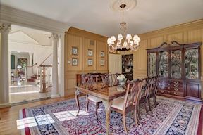 Formal Dining Room w/ Columns & Cased Opening