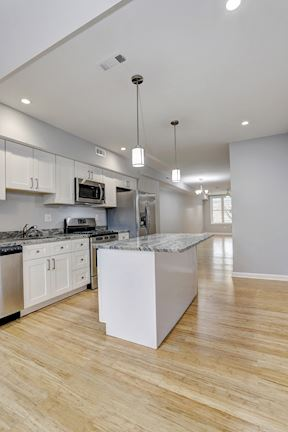 Gourmet Kitchen With Recessed Lighting