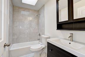 Full Bathroom With Skylight
