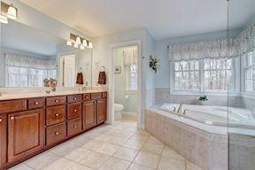 Master Bath w/ Remote Honeycomb Shades